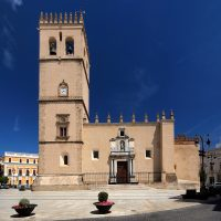 Spain, Extremadura, Badajoz, Plaza de España, Catedral